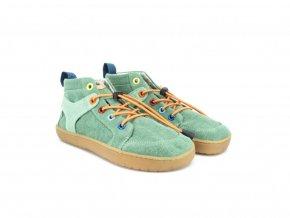 Barefoot členková obuv Mukishoes - Mini Moss