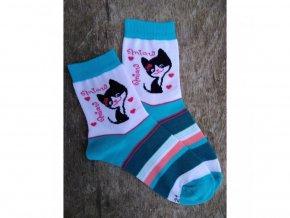 Detské bavlnené ponožky Trepon - Minda tyrkysové