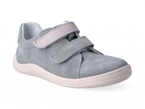 Barefoot tenisky Baby Bare - Febo Spring Grey/Pink