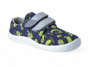 Barefoot tenisky Beda - Monsters textilné