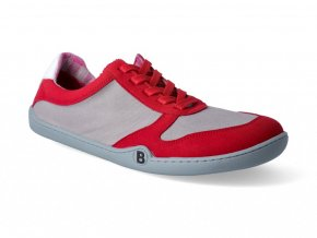Barefoot tenisky bLIFESTYLE - SportSTYLE micro/textile red