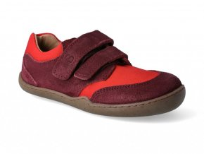 Barefoot tenisky Blifestyle - Skink bio strap cranberry wide