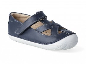 Barefoot sandálky Oldsoles - Pave Thread navy white sole