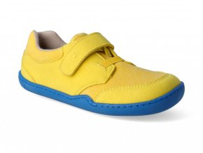Barefoot tenisky Blifestyle - Crocodile textil yellow