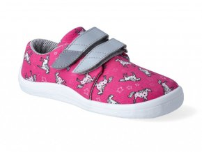 Barefoot tenisky Beda - Unicorn textilné