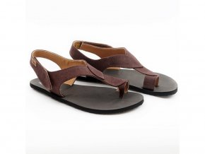 Barefoot sandále Tikki shoes - Soul vegan Chocolate