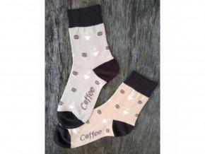 Farebné ponožky Trepon - Káva