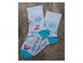 Detské bambusové ponožky Trepon - Fifinka šedé