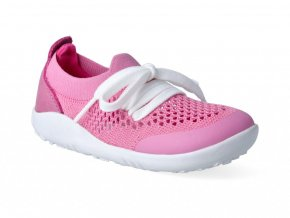 Barefoot capačky Bobux - Play Knit Pink + Raspberry Step-Up