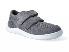Barefoot tenisky Baby Bare - Febo Sneakers Grey