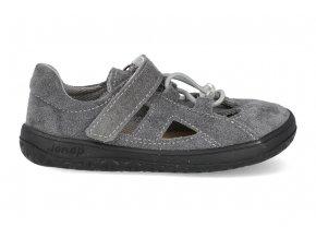 Barefoot sandálky Jonap - B9S šedá slim