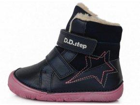 Barefoot zimná obuv D.D.step W073-688B modrá