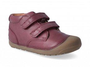 Barefoot členková obuv Bundgaard - Petit Velcro Plum