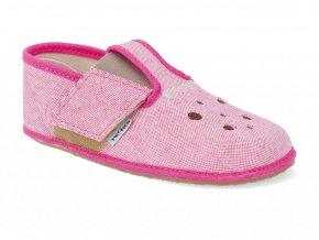 Barefoot papučky Pegres - s prierezmi Ružové