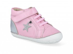 Barefoot tenisky Oldsoles - Champster Pave Pearlised Pink