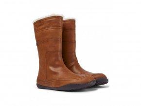 Barefoot zimné čižmy Camper - Peu Cami Brown K400508-005