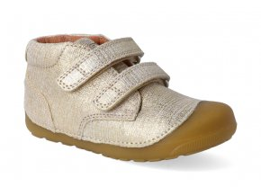 barefoot kotnikova obuv bundgaard petit velcro gold grille 2