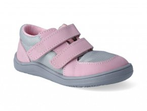 Barefoot tenisky Baby Bare - Febo Sneakers grey/pink