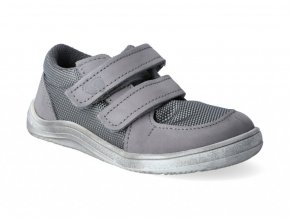 Barefoot tenisky Baby Bare - Febo Sneakers grey/white