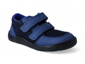barefoot tenisky baby bare febo sneakers navy black 2