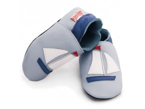 2133 liliputi soft baby shoes sailboat 1043