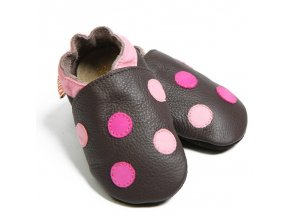 2337 liliputi soft baby shoes polka dots 1839