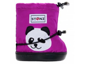 2985 5 stonz booties toddler panda magenta