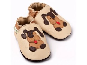 9677 2 liliputi soft baby shoes beige doggies 2972