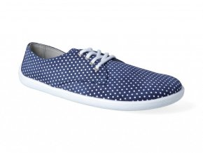 Barefoot poltopánky Be Lenka - City Dark Blue with White Dots