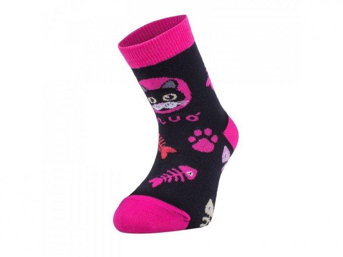 Bambusové ponožky - kočka růžové, Unuo