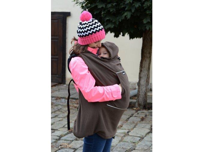 Nosící kapsa (fleece) - hnědá, Kibi