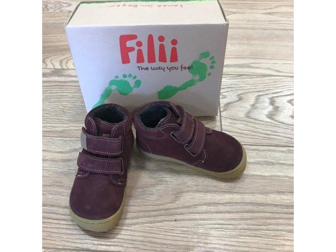 CHAMELEON (fleece) velours berry velcro W, Filii barefoot