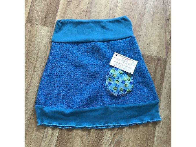 Dětská sukně 4-9 let (zimní) - modrá, Petra Kalistia Lammas