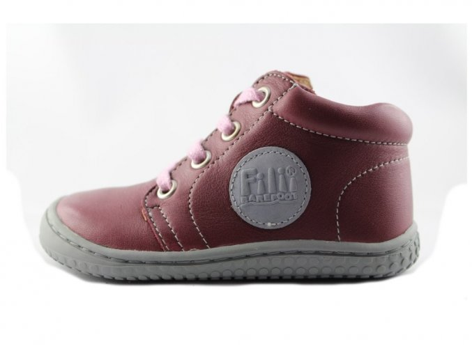 GECKO nappa berry laces M, Filii barefoot