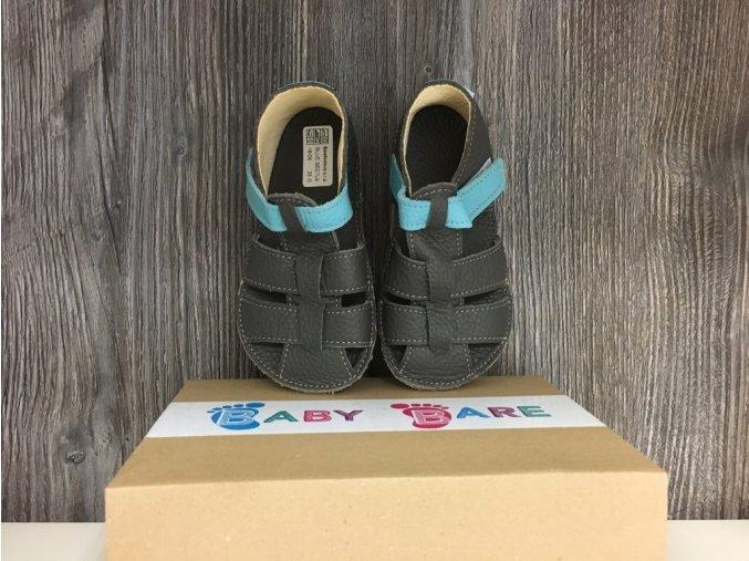 Baby Bare Shoes Blue Beetle - páskové sandále, Baby Bare Shoes