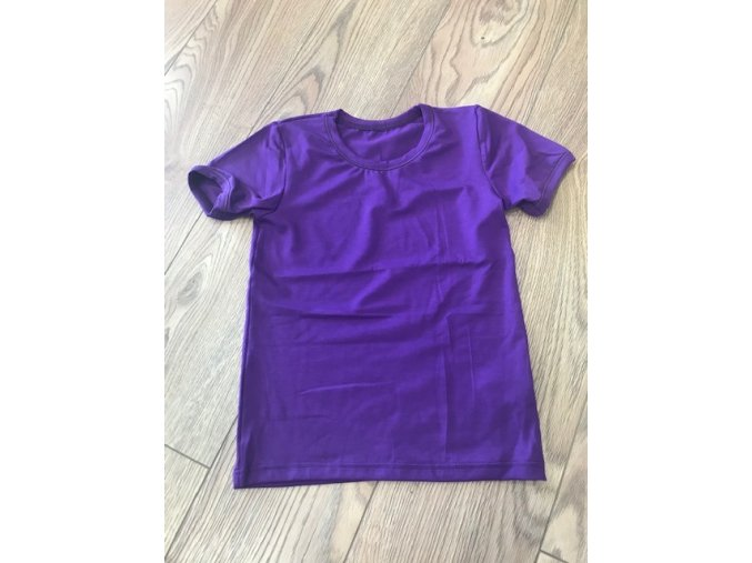 Triko krátký rukáv - fialová, Duomamas