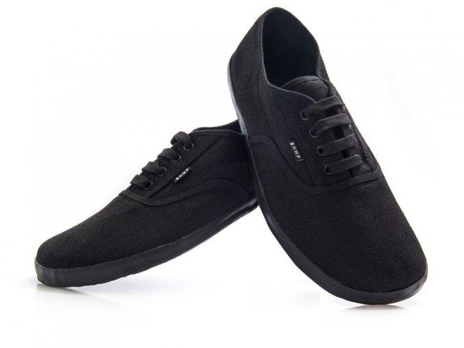 Konopné barefoot tenisky KOLDA Plimsole Black-Black, Bohempia