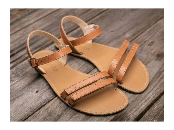 Barefoot sandále Lenka Summer - Brown, Be Lenka