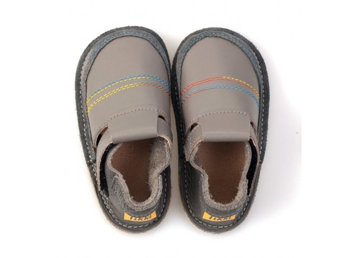 Kožené barefoot boty Rainbow - podrážka 3 mm, Tikki shoes