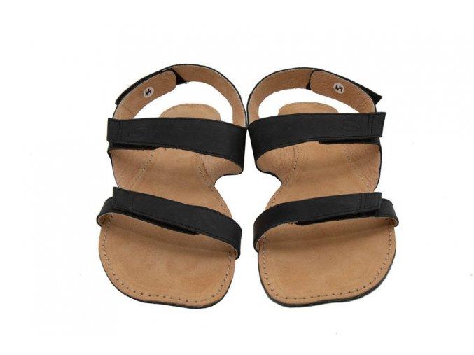 Barefoot sandále Orto+ BORA - černá