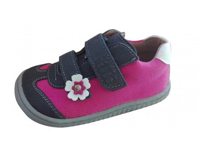 Leguan velcro velours/textile ocean/pink W, Filii barefoot