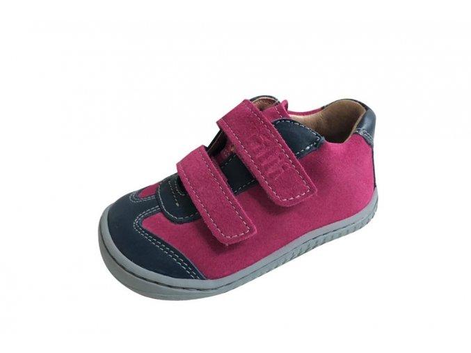 LEGUAN velcro nappa/velours ocean/pink, Filii barefoot