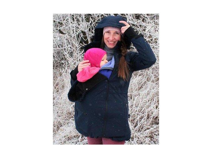 Softshellový kabátek pro nošení - tmavě modrá, Adelay