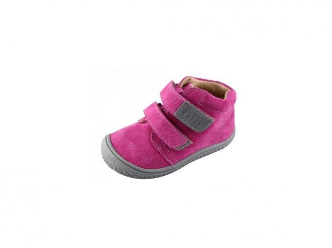CHAMELEON velcro velours pink W, Filii barefoot