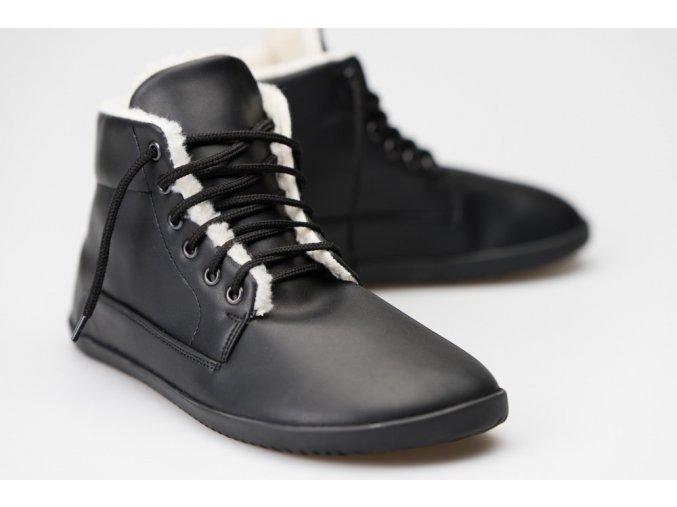 Zimní Ahinsa Bare Ankle Lifo+ Černá, Ahinsa shoes