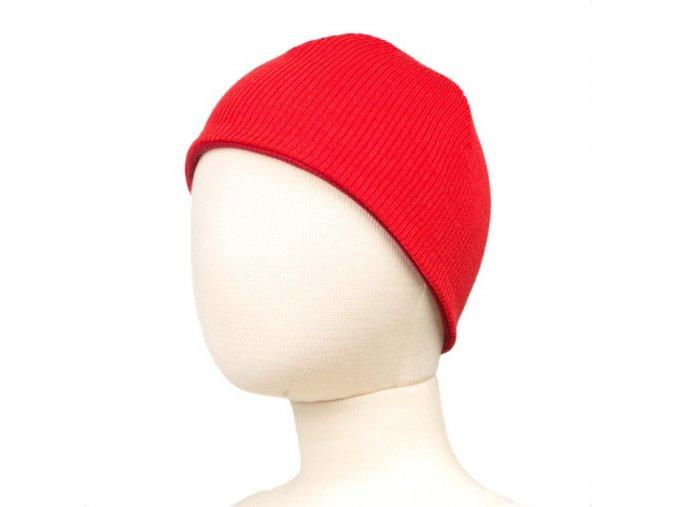 Oboustranná čepice merino - Poppy Red, Manymonths