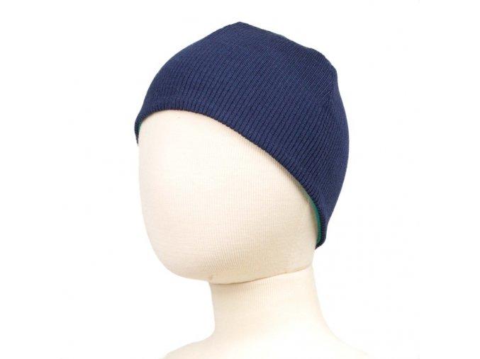 Oboustranná čepice merino - MOONLIGHT BLUE (MODRÁ), Manymonths