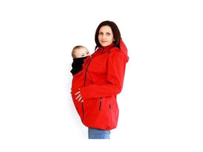 Softshellový kabátek pro nošení - červený, Adelay