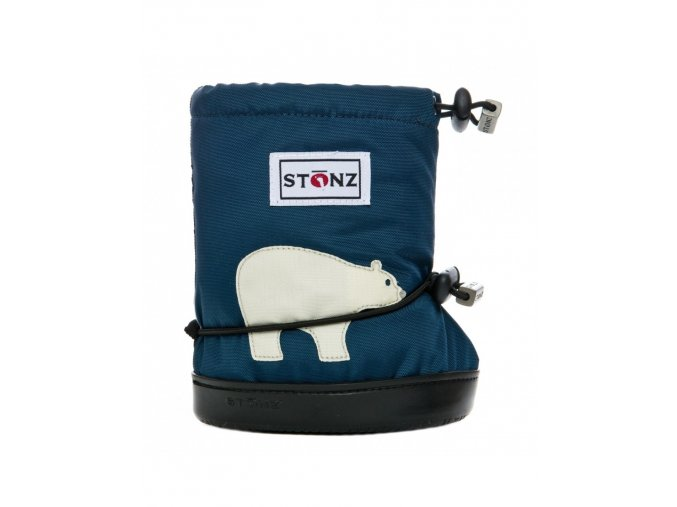 STONZ BOOTIES TODDLER - Polar Bear Navy Blue, STONZ