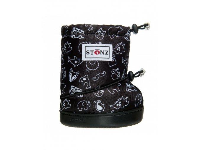 STONZ BOOTIES TODDLER - Print Black, STONZ